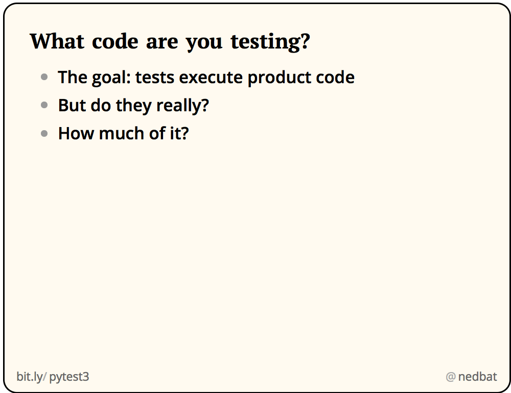What code are you testing?