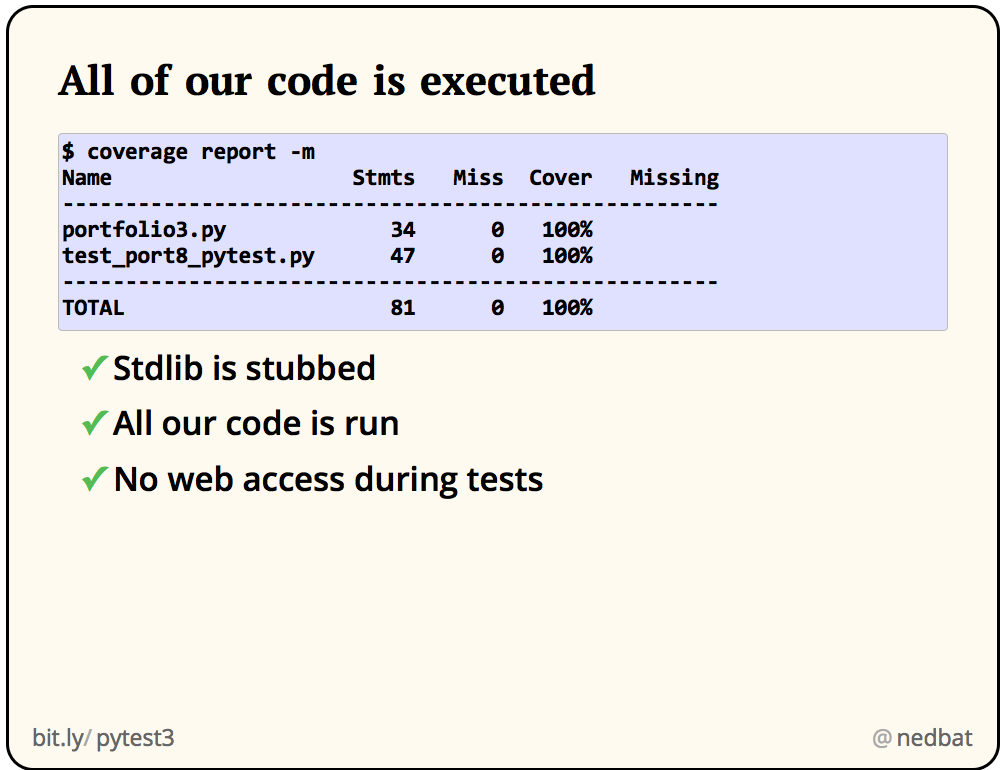 All of our code is executed