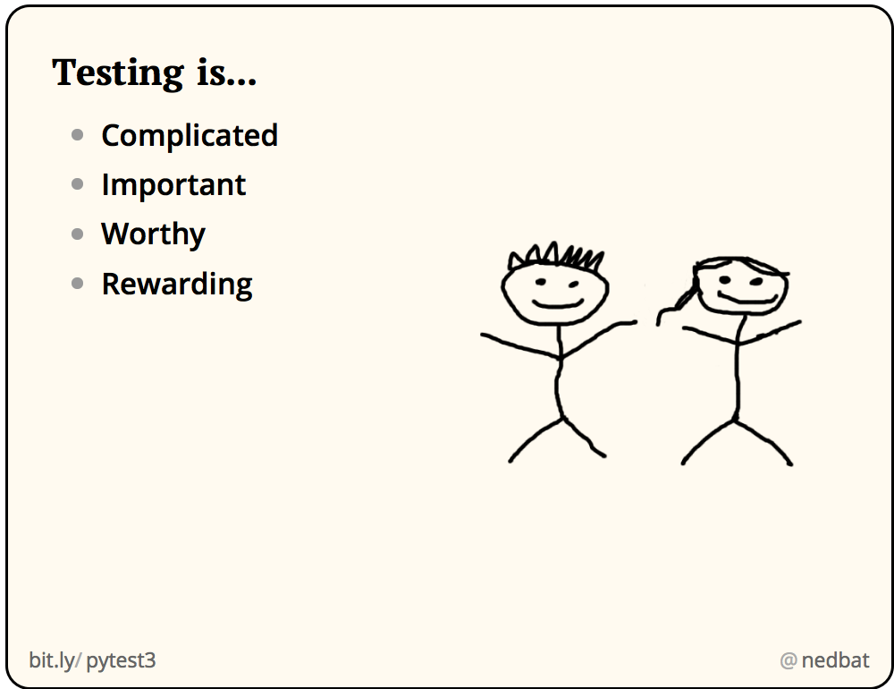 Testing is...