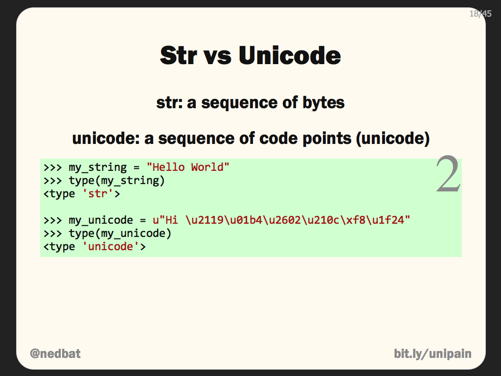 Str vs Unicode