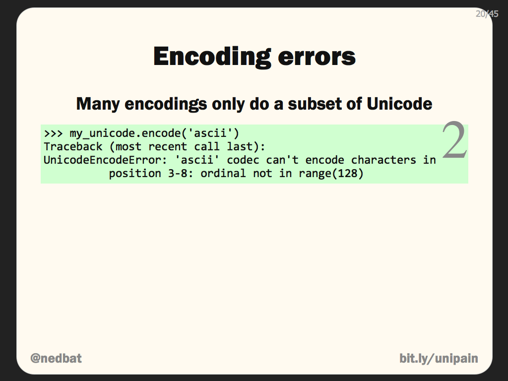 Encoding errors