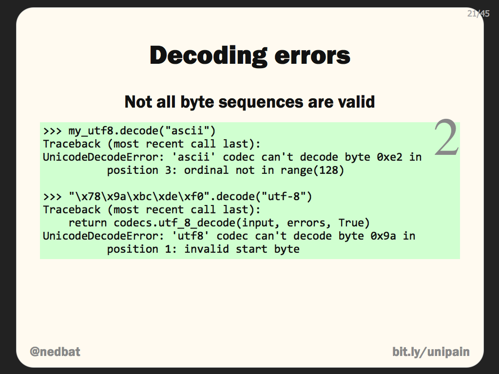 Decoding errors