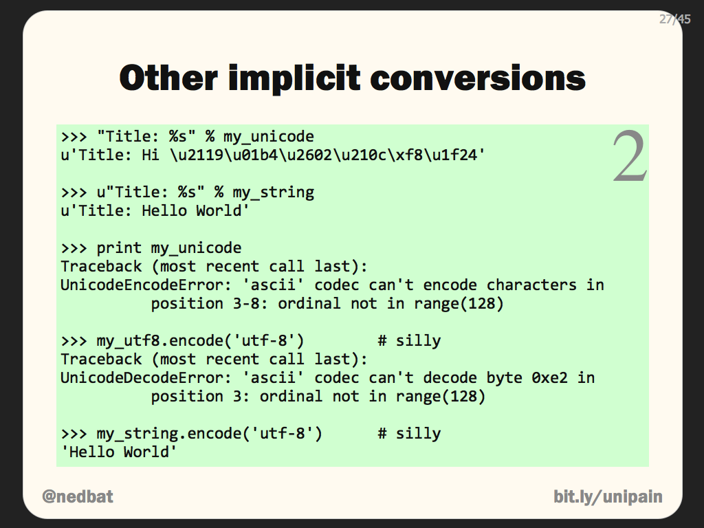 Other implicit conversions