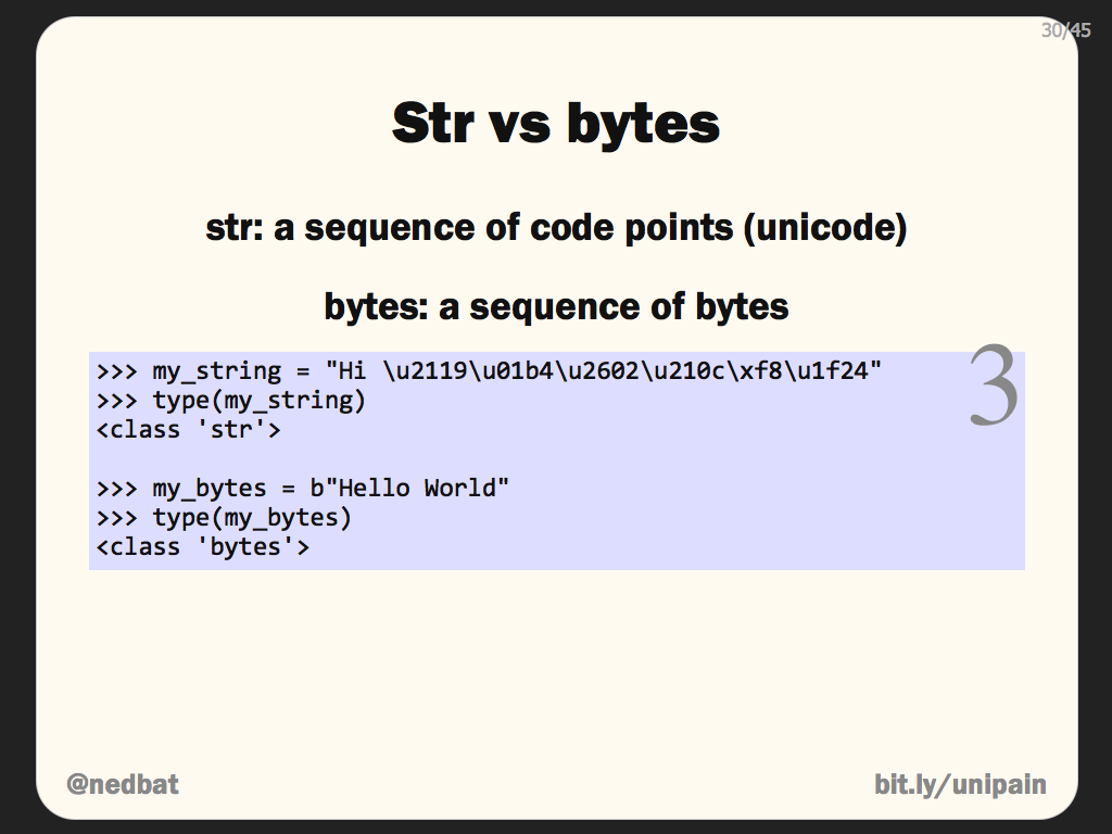 Str vs bytes
